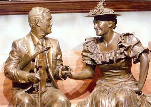 Roy Acuff and Minne Pearl at Ryman Auditorium